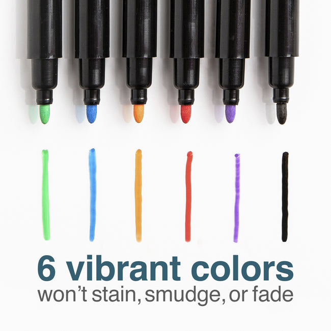 Tackie Markers Fine-Tip 6-Pack