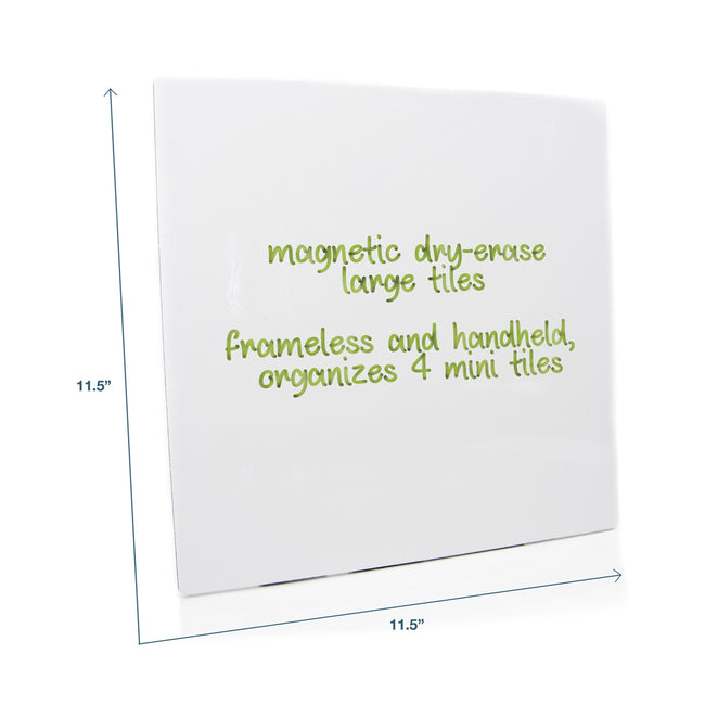 "Tile Magnetic Whiteboard 11"" x 11"", 3-Pack"