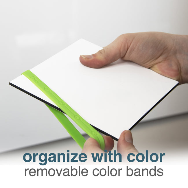 Whiteboard Mini Tiles with Color Bands, 24-Pack