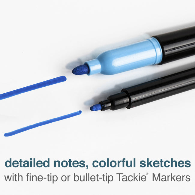Tackie Markers Fine-Point Wet-Erase Markers, 6-Pack