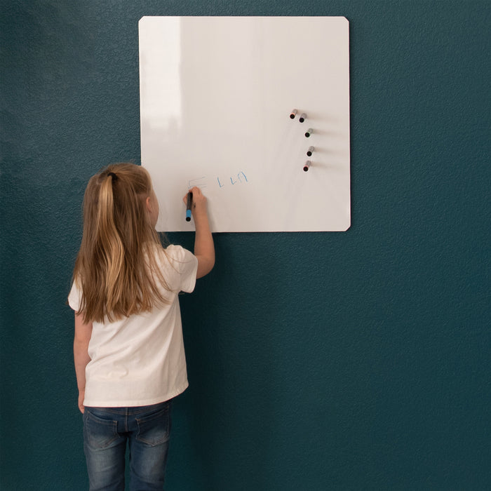 "Floating Magnetic Whiteboard, 24"" X 24"""