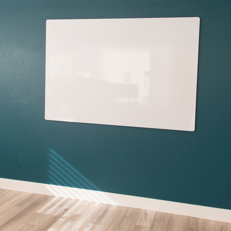 "Floating Magnetic Whiteboard, 68"" X 46"""