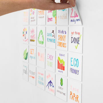 "Stickies Reusable Sticky Notes 3"" x 3"", 24-Pack"