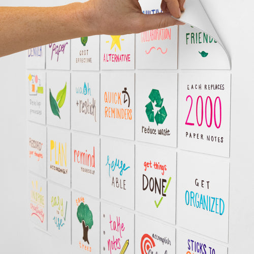 "Stickies Reusable Sticky Notes 4"" x 4"", 24-Pack"