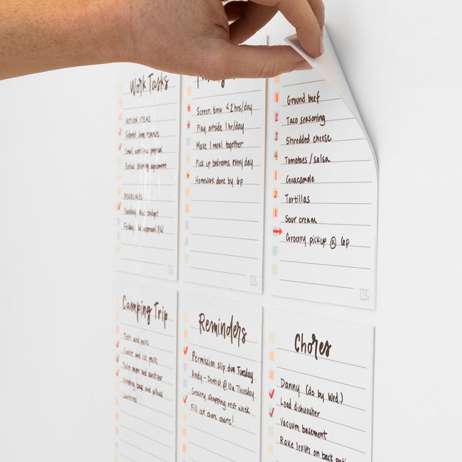 Stickies Whiteboard ToDo Lists, 6-Pack