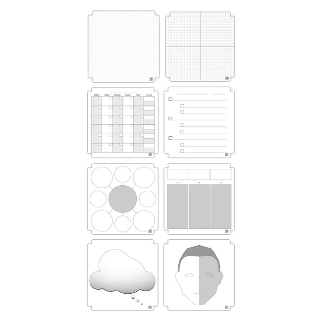 Dry-Erase 3-Dimensional Whiteboard Tablet, 12-Pack