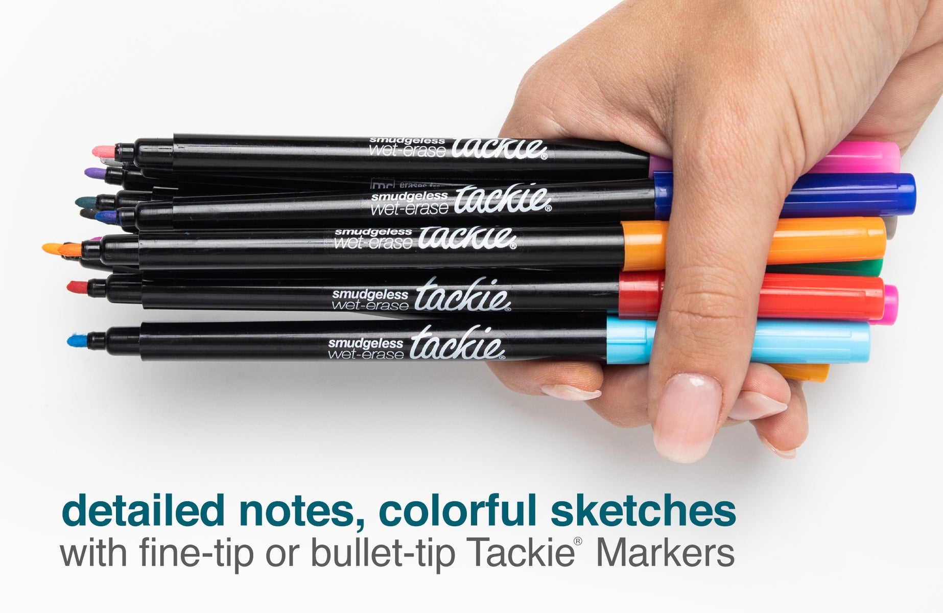 mcSquares Tackie Markers <br/> Smudge-Free Wet-Erase Markers