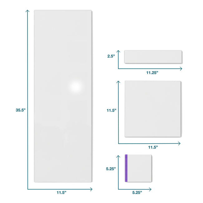 "Whiteboard Column Tile 11.5"" x 35.5"", 3-Pack"