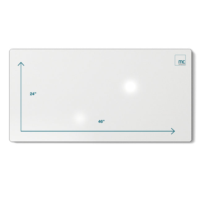 "Floating Magnetic Whiteboard, 24"" X 46"""
