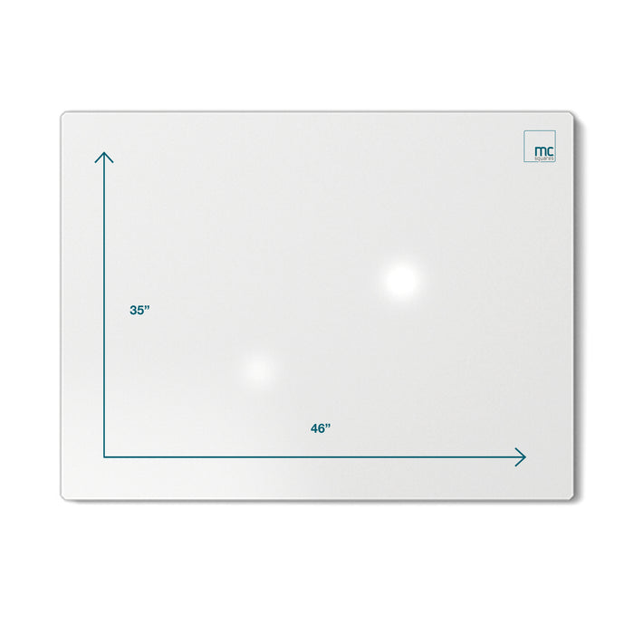 "Floating Magnetic Whiteboard, 46"" X 35"""
