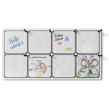 "Tablet 8-Pack with 24"" x 46"" Whiteboard"