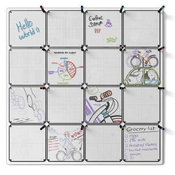 "Tablet 16-Pack with 46"" x 46"" Whiteboard"