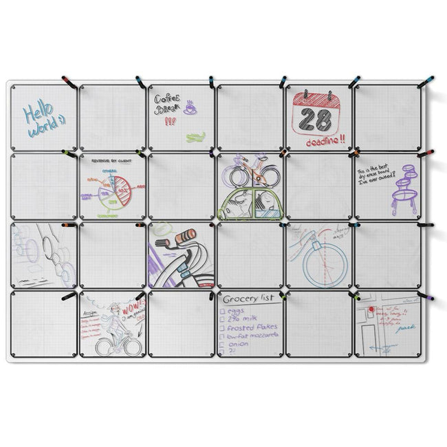 "Tablet 24-Pack with 68"" x 46"" Whiteboard"