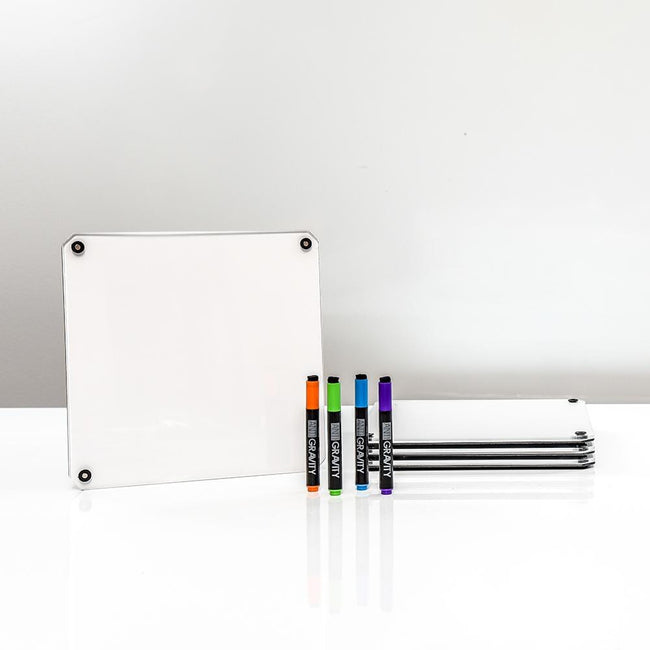 Dry-Erase 3-Dimensional Whiteboard Tablet, 4-Pack