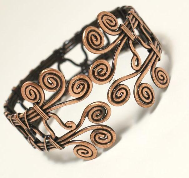 Handcrafted Wire Wrapped Bracelet, copper bracelet, wire wrap jewelry - Babazen