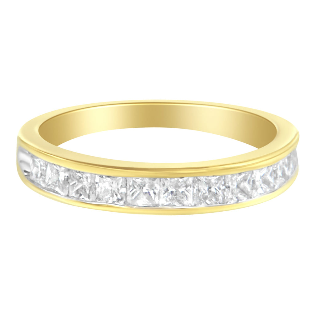14K Yellow Gold 1ct. TDW Diamond Channel Band Ring (H-I,SI2-I1)