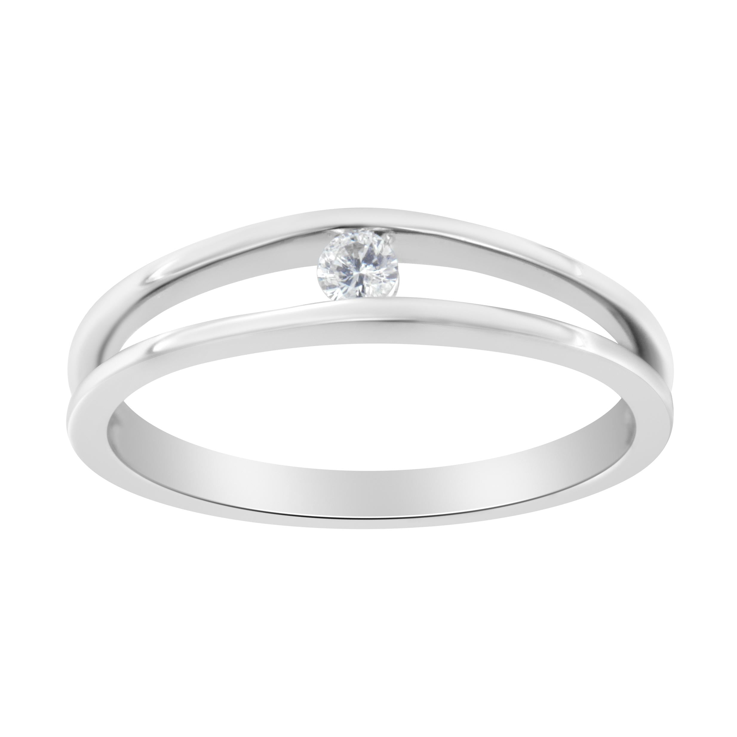 10K White Gold 1/10ct TDW Diamond Promise Ring (H-I, I1-I2)