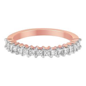 Rose Gold-Plated Sterling Silver 1/2ct TDW Diamond Band (J-K, I1-I2)
