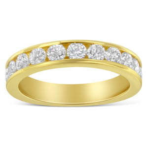 18K Yellow Gold 1ct TDW Diamond Channel Band (H-I, SI2-I1)