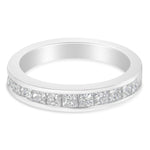 18k White Gold 1ct TDW Diamond Channel Wedding Band (G-H, SI1-SI2)
