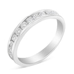 IGI Certified 18k White Gold 1/2ct. TDW Diamond Wedding Band Ring (H-I, I1)