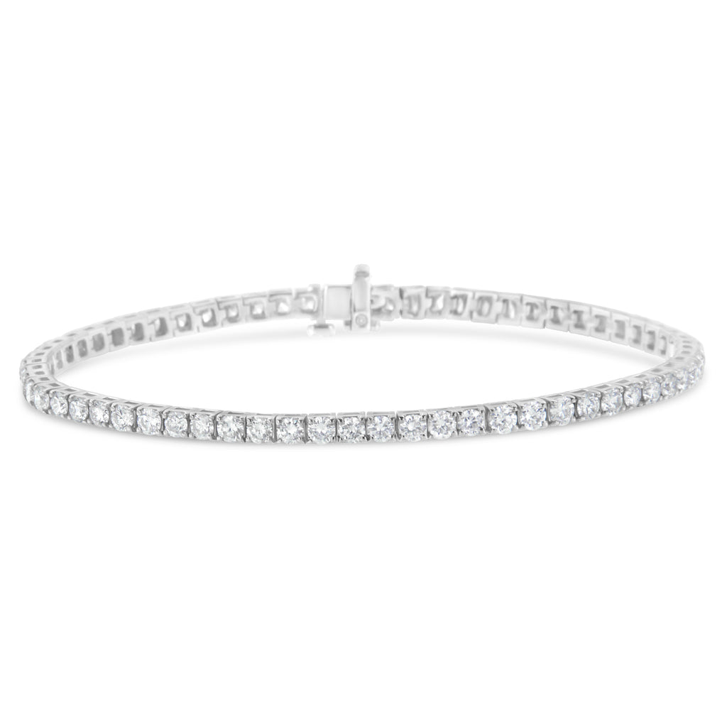 IGI Certified 14K White Gold 8ct. TDW Diamond Tennis Bracelet (H-I,I1)