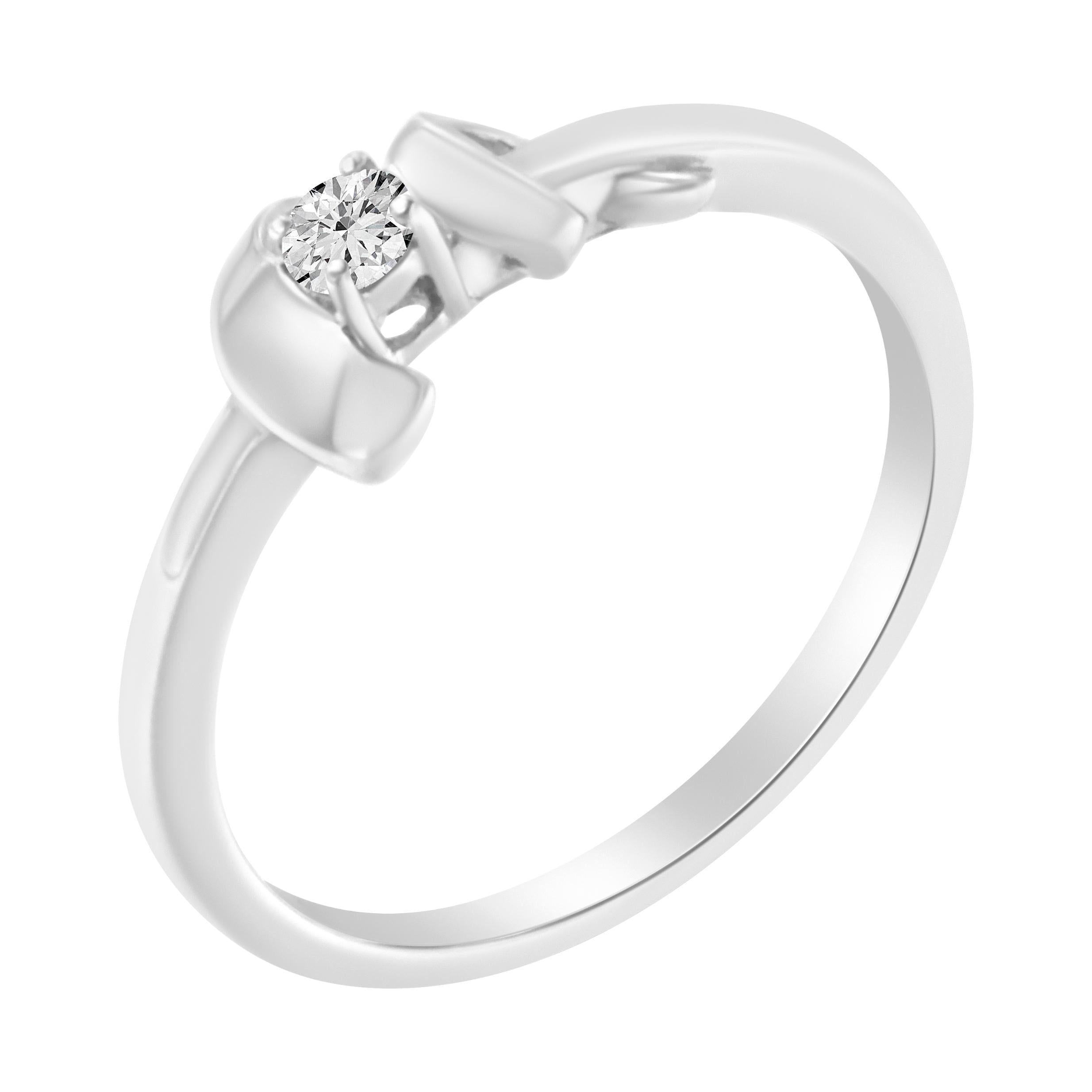 10K White Gold 1/10ct. TDW Diamond Promise Ring (H-I,SI2-I1)