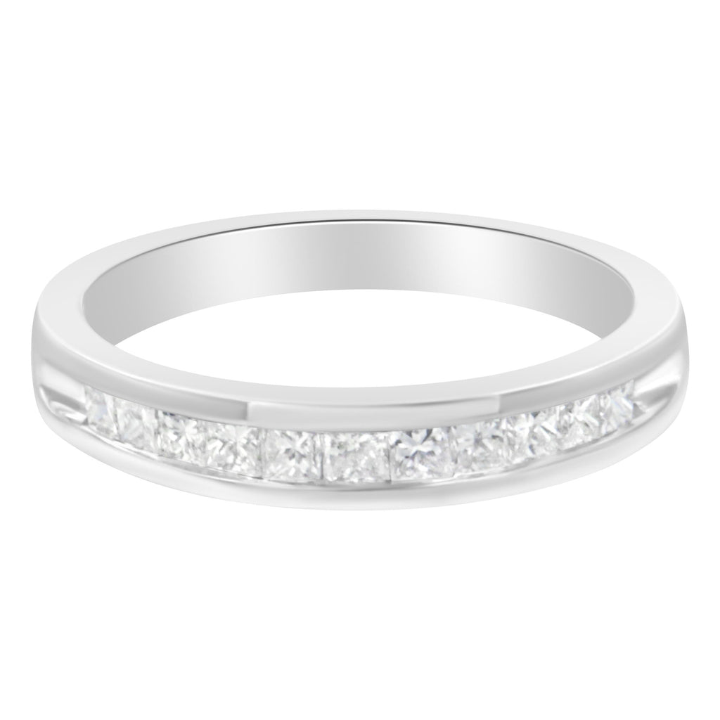Sterling Silver 1/2 ct. TDW Diamond Wedding Band Ring (H-I, I2)