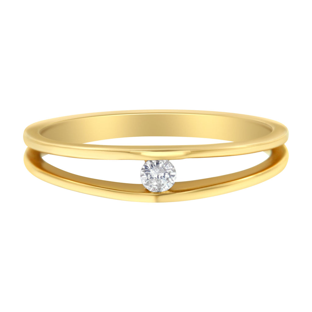 10K Yellow Gold 1/10ct TDW Diamond Promise Ring (H-I, I1-I2)