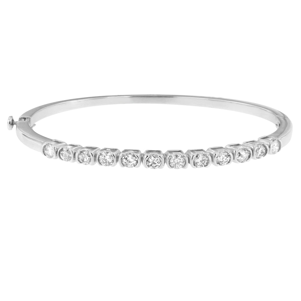 14K White Gold Bonds of Love Diamond Bangle (H-I, SI1-SI2)