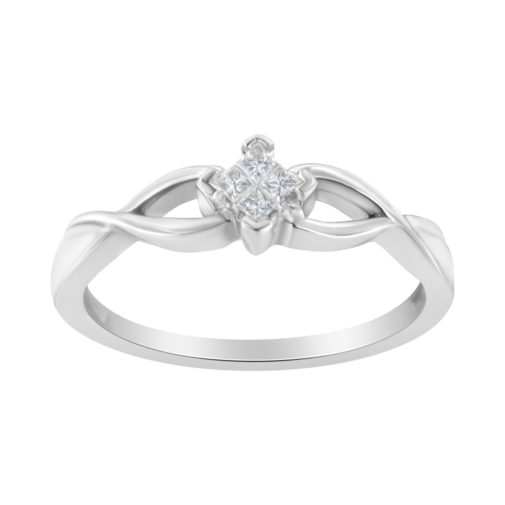 14K White Gold 1/10ct TDW Composite Diamond Promise Ring (H-I,SI1-SI2)