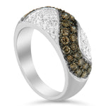 14K White Gold 1ct TDW Champagne Diamond Ring (H-I ,I1-I2)