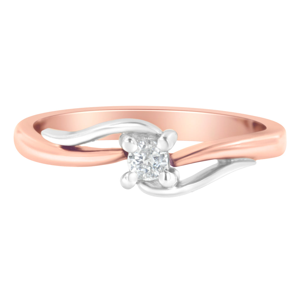 14K Two-Toned 1/10ct TDW Diamond Promise Ring (H-I,I2)