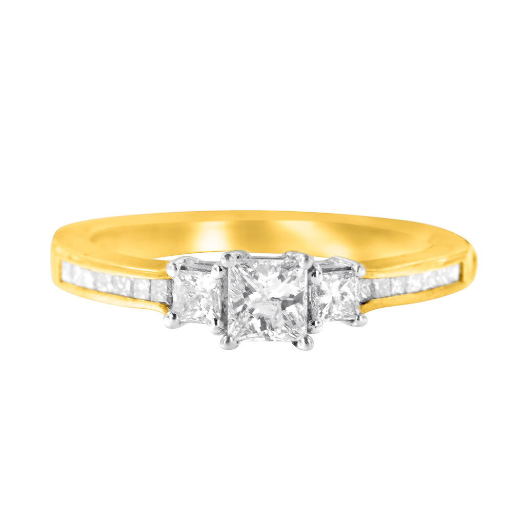14K Two-Tone Gold 1/2ct TDW Diamond Engagement Ring (H-I,I1-I2)