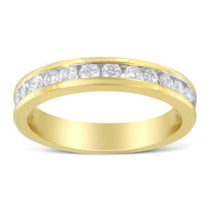 14K Yellow Gold 1/2ct TDW Wedding Diamond Band Ring (H-I,I1-I2) - Size 7