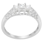 14K White Gold 5/8ct. TDW Round and Baguette Diamond Ring (H-I, I1-I2)