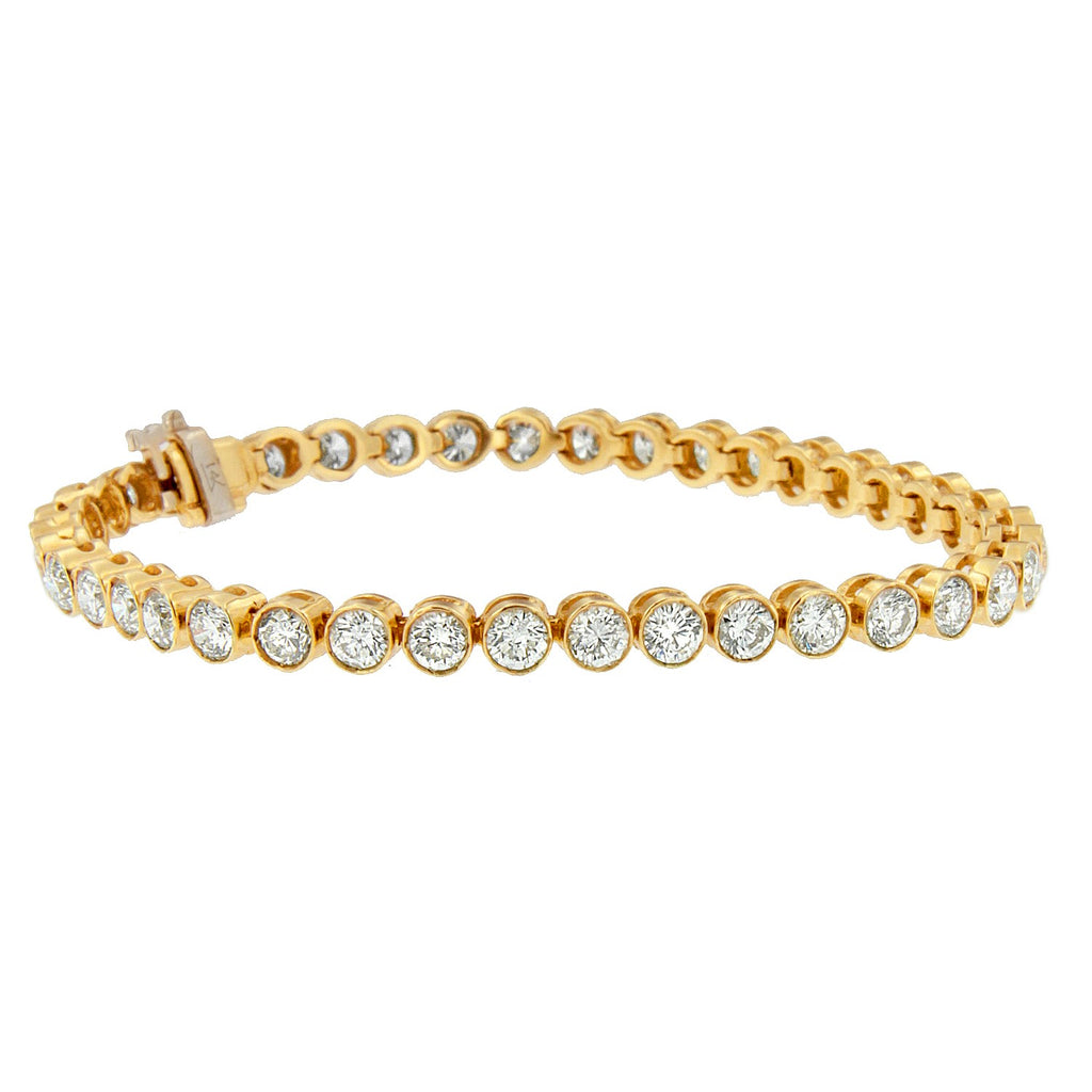 14K Yellow Gold 8ct. TDW Diamond Bracelet (H-I,SI1-SI2)