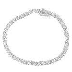 18K White Gold 1ct. TDW Wrapped in Love Diamond Tennis Bracelet (H-I,I1-I2)