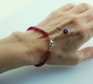 Handmade Red Jade Stacking Bracelet - Babazen