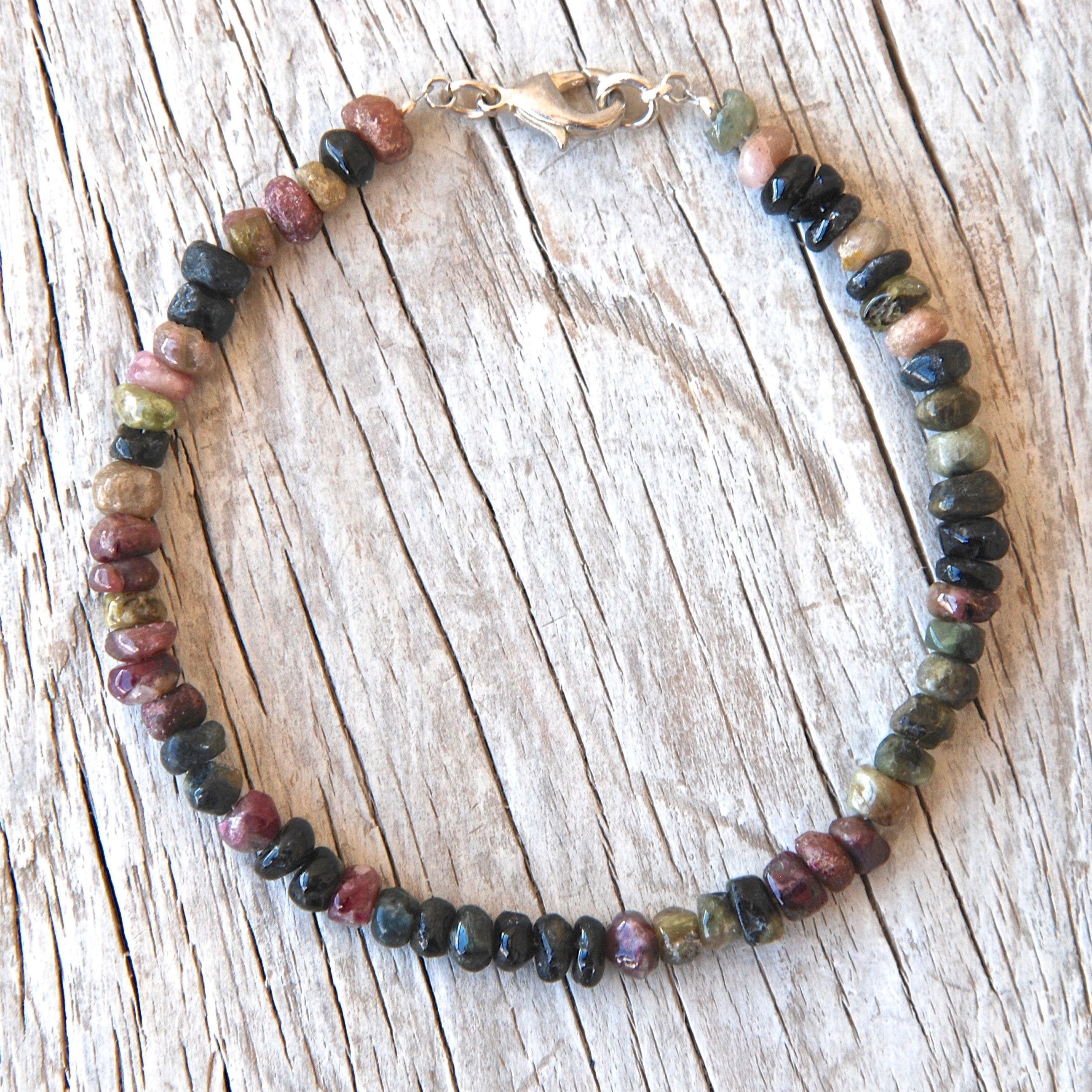 Handmade Tourmaline Beads Stacking Bracelet - Babazen