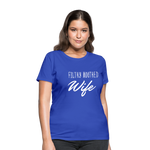 Filthy Mouthed Wife shirt, T-shirt, Anti Trump, Unapologetic, Raging Feminist, Trending #filthyMouthedWife, Resist, Protest Women's T-Shirt - royal blue