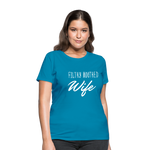 Filthy Mouthed Wife shirt, T-shirt, Anti Trump, Unapologetic, Raging Feminist, Trending #filthyMouthedWife, Resist, Protest Women's T-Shirt - turquoise