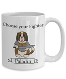 Dungeons and Dogs Paladin Mug