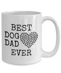 Dog Lover Gifts Best Dog Dad Ever Pet Owner Rescue Gift Coffee Mug Tea Cup White