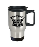 Worlds Most Awesome Mediocre Golfer - Stainless Steel Coffee Mug