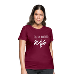 Filthy Mouthed Wife shirt, T-shirt, Anti Trump, Unapologetic, Raging Feminist, Trending #filthyMouthedWife, Resist, Protest Women's T-Shirt - burgundy