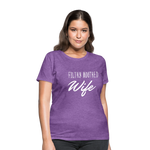 Filthy Mouthed Wife shirt, T-shirt, Anti Trump, Unapologetic, Raging Feminist, Trending #filthyMouthedWife, Resist, Protest Women's T-Shirt - purple heather