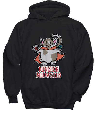 Dungeon Meowster DnD Dungeons and Dragons Cute RPG cat Hoodie