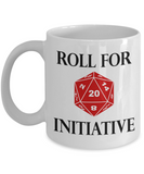 Roll for Initiative Dungeons and Dragons Mug