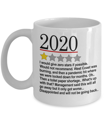 2020 Review Mug - One Star 2020 Bad Review Novelty Mug